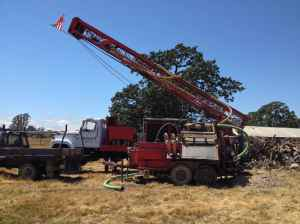 Drill Rig setting up